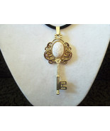 Golden Key With Dragon Egg Necklace - $20.00