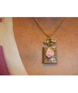 Fairytale Book with Rose and lovebirds Locket necklace - $20.00