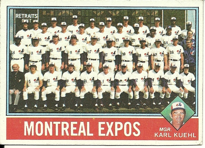 Primary image for 1976 Topps Montreal Expos 216 Checklist Very Good