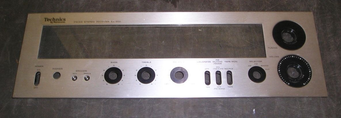 Technics SA-200 FM/AM Stereo Receiver Faceplate Only