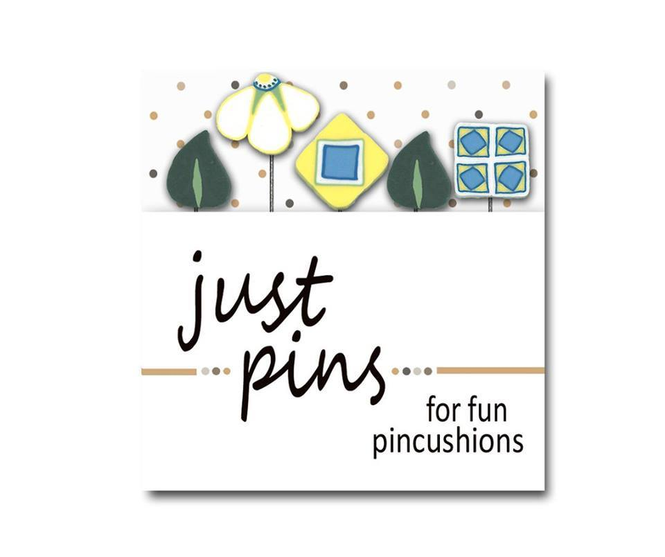 Primary image for Cathy's Garden JP196 Just Pins set/6 pins for pincushions Just Another Button Co