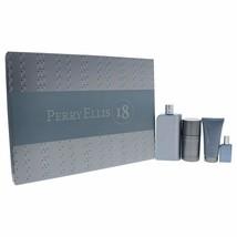 Perry Ellis 18 By Perry Ellis 4 Piece Set - 3.4 Oz Eau De Toilette Spray For Men - $44.99