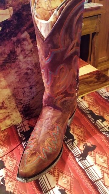 Primary image for SALE! Old Gringo Lauren Brass/multi embroideredl Cowgirl Boot turquoise multi