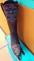 Gorgeous!! Lane Kimmie Western Cowgirl Boot Lace Black Leather - $349.00