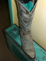Gorgeous! Lane Boot Love Sick Cowgirl Fashion Leather distressed tan aqua - $250.00