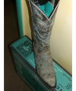 Gorgeous! Lane Boot Love Sick Cowgirl Fashion Leather distressed tan aqua - $250.00