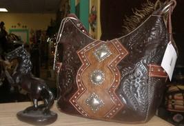 Beautiful Handmade American West Leather Handbag # 4249620 Tooled in Par... - $179.00