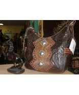 Beautiful Handmade American West Leather Handbag # 4249620 Tooled in Par... - $179.00