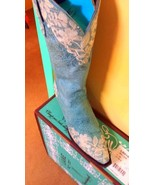 Gorgeous! Lane Boot Jeni Lace Cowgirl Fashion Turquoise Lace Embroidery ... - $349.00