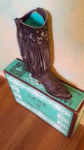 Gorgeous! New LANE Boot Santa Rosa Black Fringe!!!! great all around head turner - $399.00