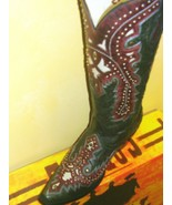 Gorgeous Corral Ladies Boot Boutique Quality Black/red Overlay w Studs G... - $280.00