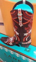 Gorgeous New! Lane Native Belle boot Black , amazing detailed multi embroidery ! - $450.00