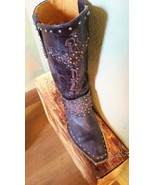 Gorgeous New! Old Gringo KRUSTS! in Blue Jeans(Color)Black ,Studs, Cross - $599.00