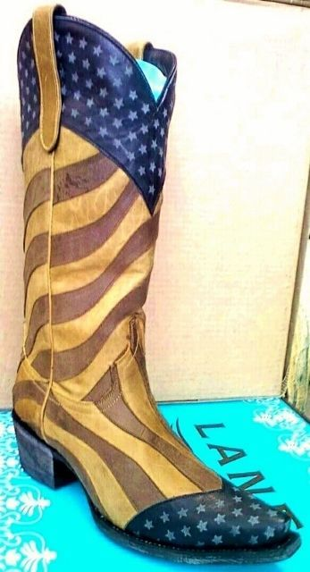 Primary image for New! Unique! Lane Boot Faded Glory! Cowgirl/Cowboy Americana Stars Leather