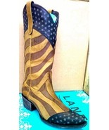 New! Unique! Lane Boot Faded Glory! Cowgirl/Cowboy Americana Stars Leather - $399.00