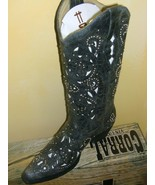 Sweet Corral Ladies Boot Cowgirl A 1096  Black and white Inlay  and STUDS! - $299.00