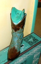 Gorgeous! Lane Boot Dakota-Shorter boot with turquoise brown LB0022H - $299.00