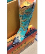 Awesome!Ferrini Cowgirl, Western, Boot -, studs,Embossed Diva Turquoise ... - $299.00