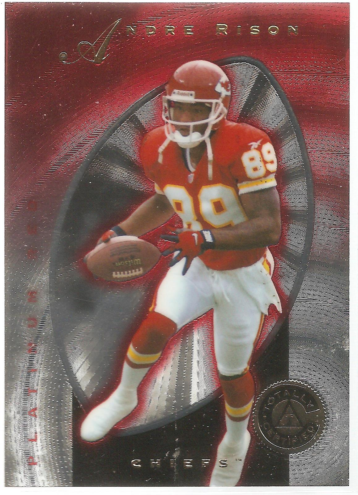 Primary image for Andre Rison Pinnacle Totally Certified 1997 #93 Platinum Red Kansas City Chiefs