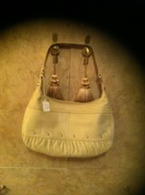 New Xo Genuine Beige Leather Hand Ba G Size: Me Diu M!! Excellent Condition  ~  - $49.99
