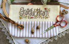 Grateful Heart Pouch Kit cross stitch kit Shepherd's Bush - $24.00
