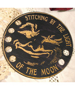 Mr. Moon Organizer cross stitch accessory Retro... - $12.00