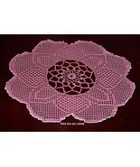 Rose Pink Evening Primrose Bloom Filet Crochet ... - $23.50