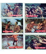 Topps Cards  -Davy Crockett Green Backed Cards (Set of 6 Cards - 1956) - $16.95