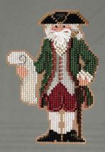 Williamsburg Santa Colonial Santa Ornament Kit 2013 cross stitch kit Mill Hill - $6.30