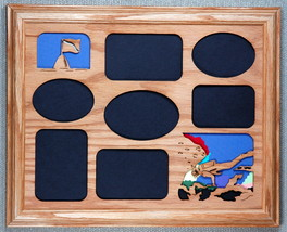 """""""Scuba Diver"""" Photo Collage with Oak mat in an Oak Picture Frame 11x14 - $54.95"""