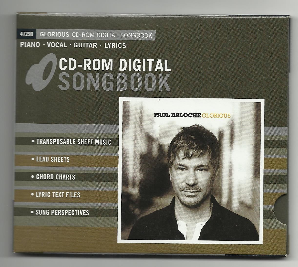 Primary image for Paul Baloche Glorious CD-Rom Digital Songbook - sheet music, lead sheets, etc