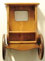 Vintage Brown Wood Wagon Wheel Rack Storage/Rustic Western Country Decor - $65.33