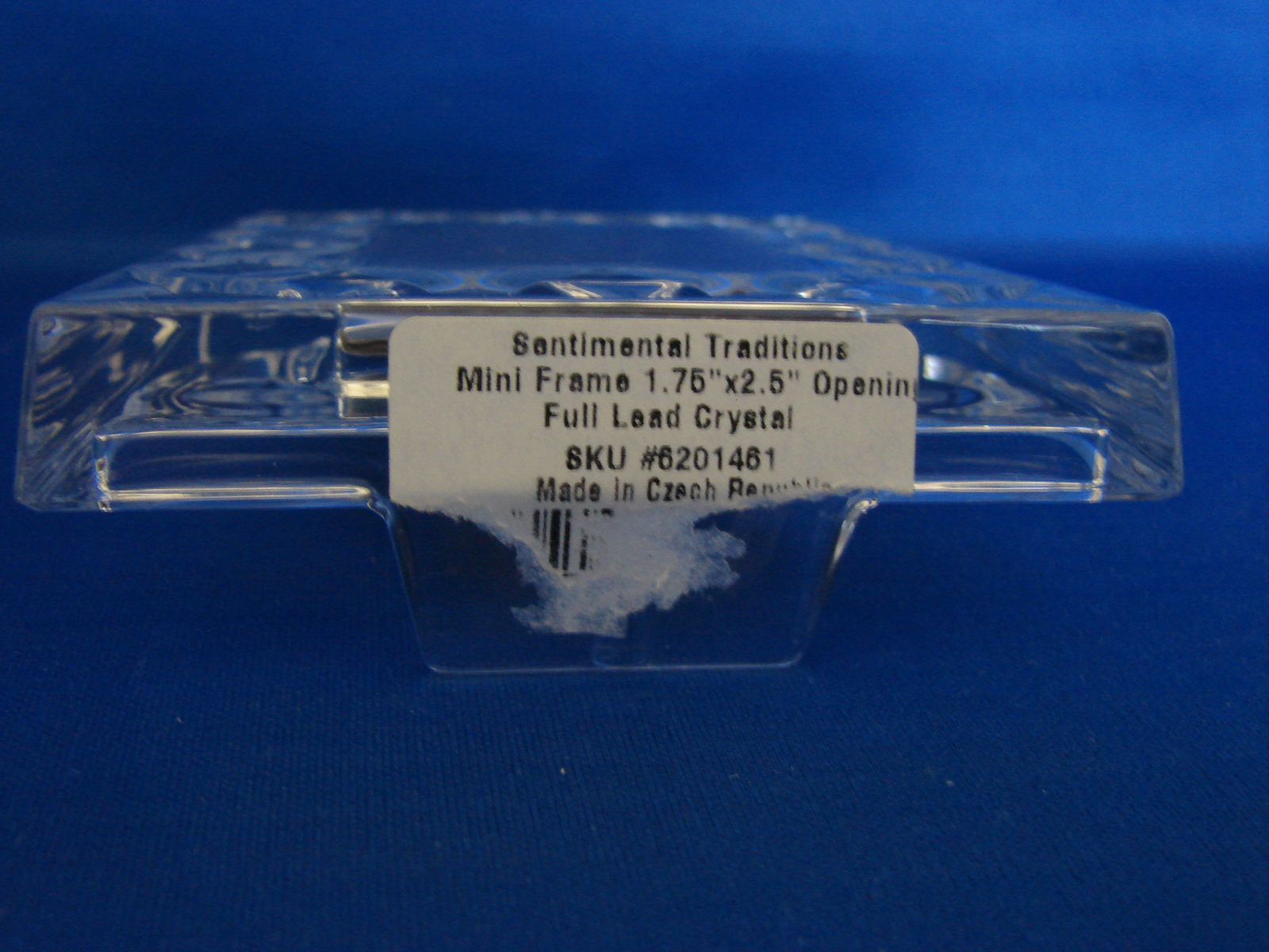 "Gorham Crystal Mini Frame Sentimental Traditions Sculpted 1.75""x2.5"""