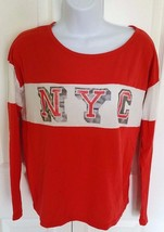 Women's GAP Authentic Apparel Long Sleeve Shirt NYC Orange Silver Ivory ... - $13.57