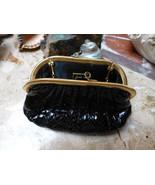 classic judith leiber black snakeskin hinged vintage 1990's evening purs... - $375.00