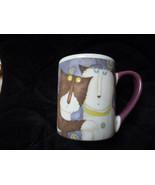 cat and dog tea coffee mugs by Debi Hron - $21.00