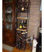 Umanoff  Fabulous Leather wine rack wrought iron 30 bottle wine holder RARE - $2,499.00