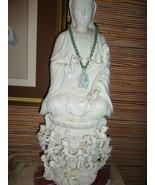 WOW  Blanc de Chine beautiful Guanyin Dehua porcelain  Unique base of la... - $3,500.00