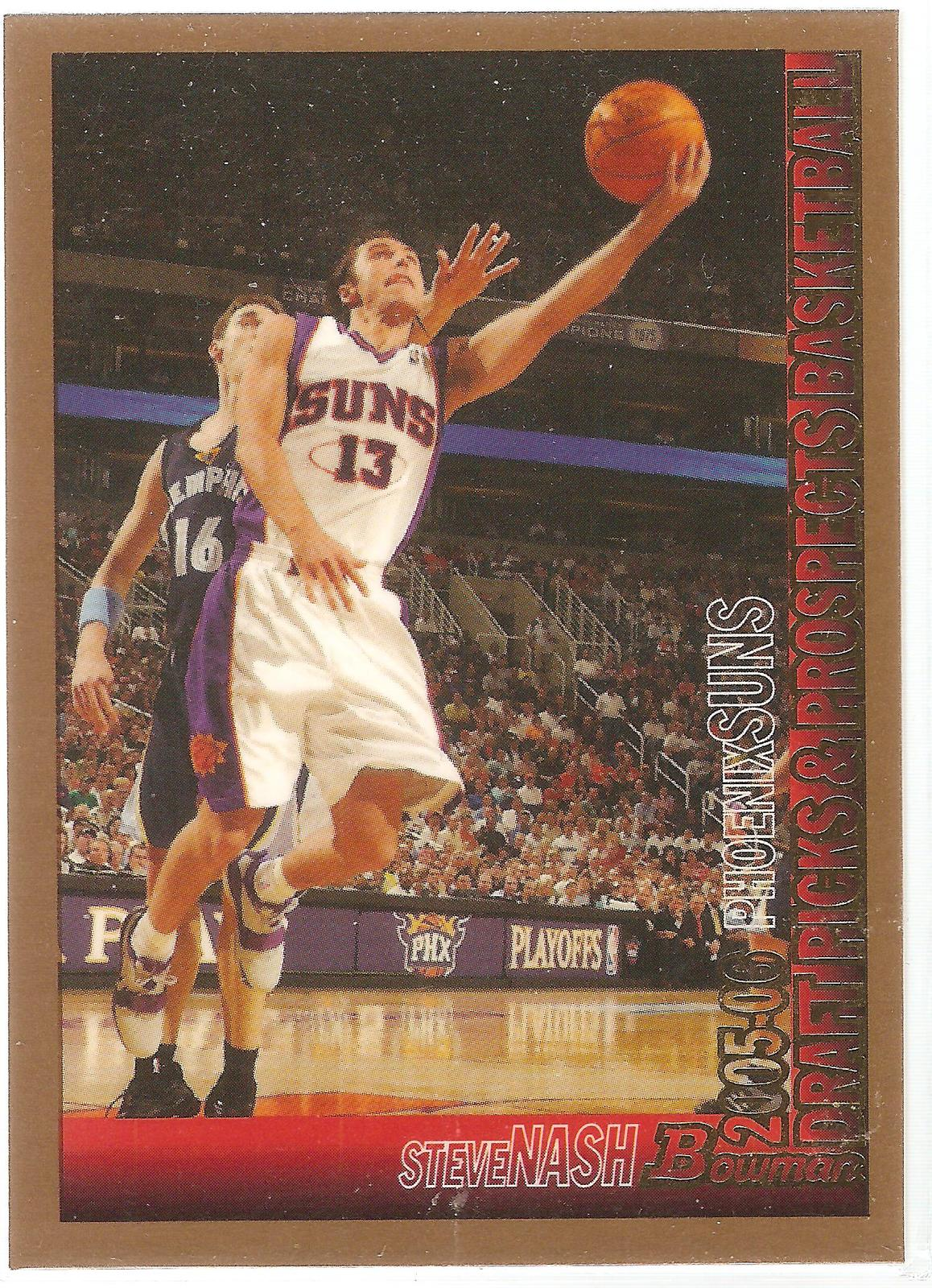Primary image for Steve Nash Bowman 05-06 #1 Gold Parallel Phoenix Suns Los Angeles Lakers Dallas