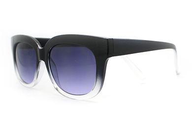 Super Retro Sunglasses Womens Thick Horn Rim Fashion Frame 2-Tone BLACK