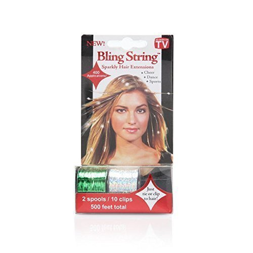 Primary image for Mia Bling String Hologram Hair Extensions, Green, 1.44 Ounce by The Tonytail ...