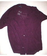 New Womens Express Top S Dark Purple Small Nice... - $17.70