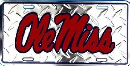 "Ole Miss Rebels NCAA ""Diamond"" License Plate New - $8.86"