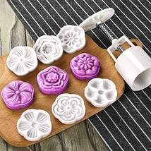 Dltsli Moon Cake Mold With 6 Stamps - Mid Autumn Festival DIY Decoration... - $10.92