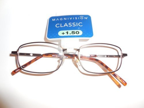 Primary image for Magnivision Classic +1.50 Reading Glasses h01110 KENT2