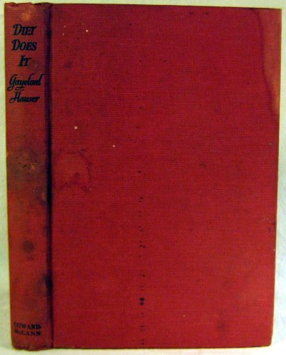 Primary image for Diet Does It [Hardcover] [Jan 01, 1946] hauser, bengamin