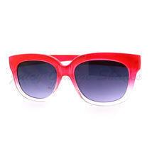 Super Retro Sunglasses Womens Thick Horn Rim Fashion Frame 2-Tone RED - $7.87