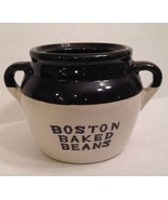 Vintage Boston Baked Beans Crock Handle Pot USA Stoneware - $10.89