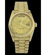 Yellow gold rolex watch day date presidential m... - $9,999.00