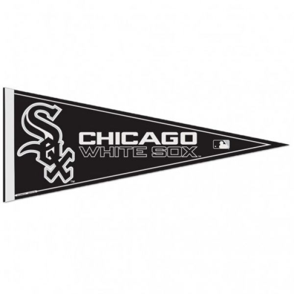 "BIG CHICAGO WHITE SOX TEAM FELT PENNANT 12"" x 30"" MLB BASEBALL Ships FLAT!"